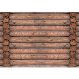 Fotobehang poster 1234 hout balken bruin
