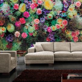 Fotobehang poster 2035 bloemen rozen kleurrijk