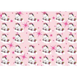 Fotobehang poster 4469 kinderkamer unicorn roze