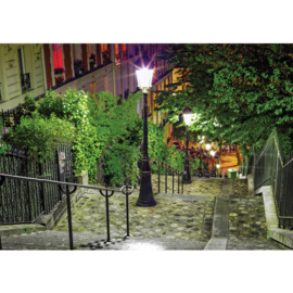 Fotobehang 1348 Stad trappen lantaarn