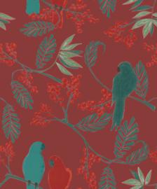 Jungle Fever Dutch jf3402 papagaai rood groen