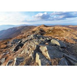 Fotobehang poster 3352 bergen landschap bergkam bergtop