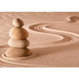 Fotobehang poster 0222 stenen in zand rustgevend