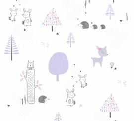 AS 381171 egel hert ree paars wit baby kinder