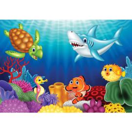 Fotobehang poster 4531 kinderkamer onderwater oceaan
