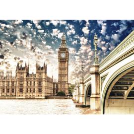 Fotobehang 1944 Engeland London palace of westminster big ben