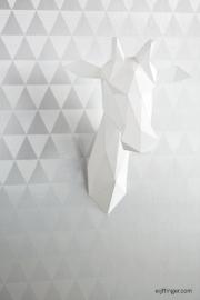 Eijffinger Black & Light 356012 driehoek zilver grijs