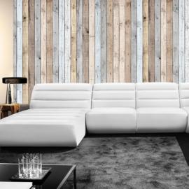 Fotobehang poster 1191 hout planken bruin grijs beige
