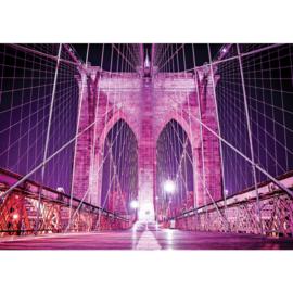 Fotobehang 2317 brug architectuur lila