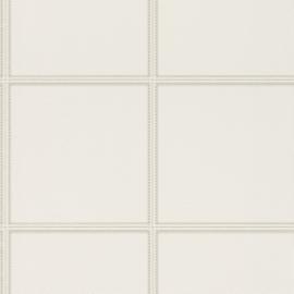 Club 576467 leer blokken wit gebroken wit stiksel