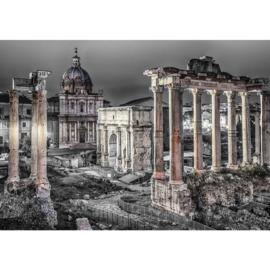 Fotobehang 1841 Italie Rome zuilen zwart wit
