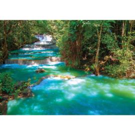 Fotobehang poster 2502 rivier water bos waterval