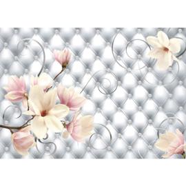 Fotobehang poster 0950 bloemen chesterfield knopen kussen