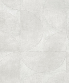 32824 robuust beton halve cirkel gebroken wit