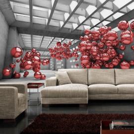Fotobehang 3248 ballon rood kunst architectuur