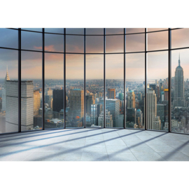 Fotobehang poster 1336 panorama skyline new york manhattan