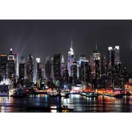 Fotobehang poster 2898 skyline nacht wolkenkrabber