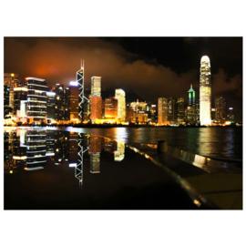 Fotobehang 0995 skyline nacht lichtjes