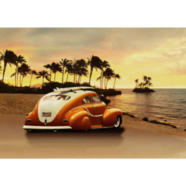 Fotobehang 1187 kever strand surfen palmen 152.5 x 104