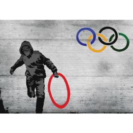 Fotobehang muur olympisch hoody 1266