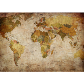 Fotobehang poster 0029 landkaart wereldkaart