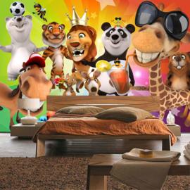 Fotobehang poster 0088 kinderkamer jungle dieren zoo