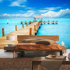 Fotobehang poster 0159 steiger zee oceaan strand uitzicht