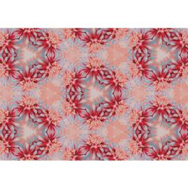 Fotobehang poster 1546 bloemen krans roze rood