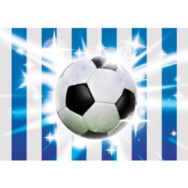 Fotobehang poster 1037 kinderkamer sport voetbal blauw wit zwolle