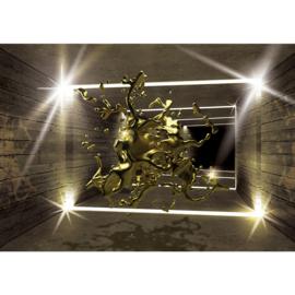 Fotobehang 2419 kunst goud architectuur inktvlek