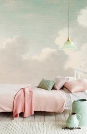 Eijffinger Masterpiece 358121 Dutch Sky Stripes Jade lucht wolken