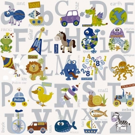 BE My adventures ma66134 alfabetzilver letters  kinder/baby