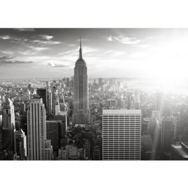 Fotobehang poster 0015 new york skyline big apple mist empire state building