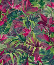 Jungle Fever Ducth jf2303 bladeren roze groen