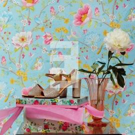 Eijffinger pip studio 341002 bloem licht blauw