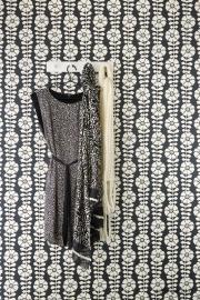 Eijffinger Black & Light 356151 bloemen zwart creme/parelmoer
