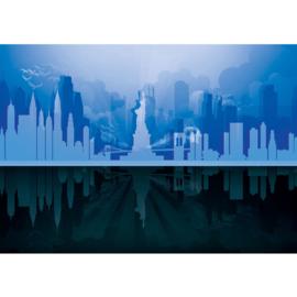 Fotobehang poster 4441 skyline new york vrijheidsbeeld statue of liberty