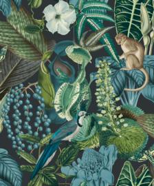 jungle fever dutch jf2202 jungle groen blauw vogel aap kikker