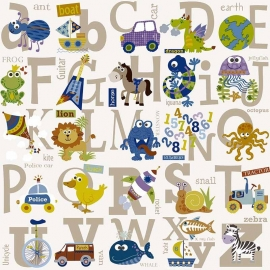 BE My adventures ma66133 alfabet goud letters kinder / baby