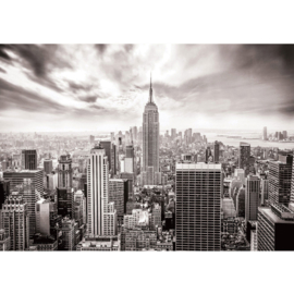 Fotobehang 0690 USA new york skyline zwart wit