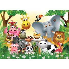 Fotobehang poster 0013 kinderkamer jungle dieren zoo