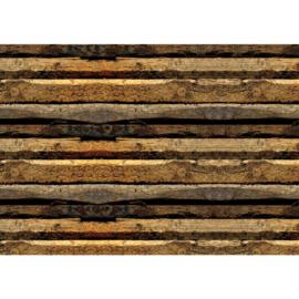 Fotobehang poster 2139 hout bruin balken