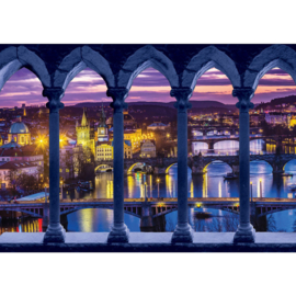 Fotobehang poster 2680 brug pilaren skyline stad