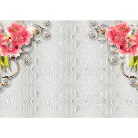 Fotobehang poster 2693 ornament met bloemen