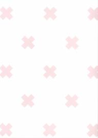 67104-3 kruis roze wit x