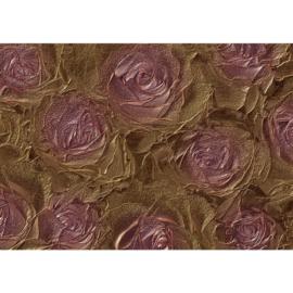 Fotobehang poster 1414 bloemen rozen roos lila paars metallic