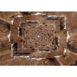Fotobehang poster 2176 hout bruin planken
