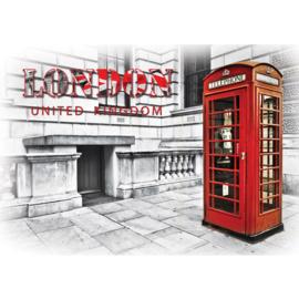 Fotobehang 0914 Engeland Londen telefooncel rood