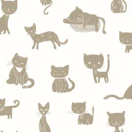 27200 katten poesen goud cremewit