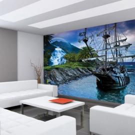Fotobehang poster 3005 boot galjoen zee zeilboot zeilschip sailing
